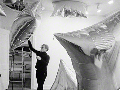 Silver Clouds installation, Leo Castelli Gallery, NYC 1966