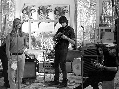 Nico, Sterling Morrison and John Cale